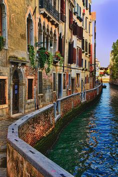On the Canal - Venice, N Italy
