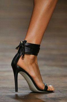 Black low dress heel.