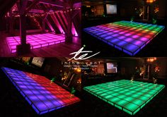 In The Event likes to keep guests dancing on nothing but the best high-end LED dance floor. Made up of squares the floor can be configured and customized.