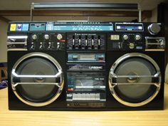 80's Boombox. This looks very much like the one I had.