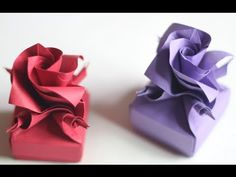 A gift box with a rose