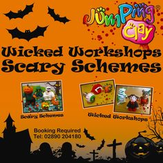 Any plans this Halloween Half Term. Why not pop into your local Jumping Clay academy and make something scary :) 1 & 2 Hr workshops available. Happy Modelling