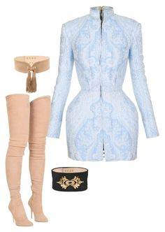 """Untitled #1506"" by antoniajulia on Polyvore featuring Balmain"