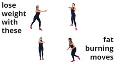 4 Full Body moves that help speed your metabolism to increase your calorie burn which then helps with healthy weight loss. I recommend you do this 4 minute workout first thing in the morning and in the evening this way you will naturally be raising your b Fitness Workouts, Fun Workouts, At Home Workouts, Fitness Tips, Fitness Home, Fitness Wear, 4 Minute Workout, Workout Bauch, Gewichtsverlust Motivation