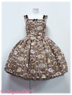 Angelic Pretty: Melty Cream Doughnut. Close to horrible, but I love this print.