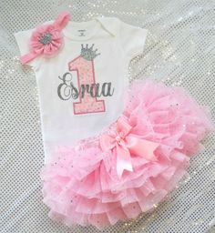 Winter Onederland Outfit girls first birthday by KidsFunLand