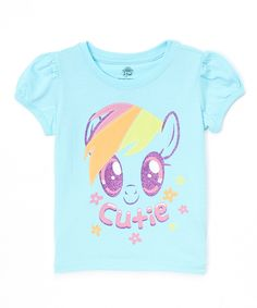 This My Little Pony Rainbow Dash 'Cutie' Tee - Toddler & Girls by My Little Pony is perfect! #zulilyfinds