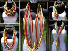16 diy t-shirt scarf ideas different ways wear scarves