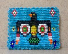 Vintage Beaded Leather Native American Thunderbird Coin Purse, Native American Accessories, Southwestern Coin Purse, Change Purse, Pouch by Lalecreations on Etsy