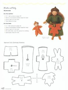 A Free preview of Salley Mavor's book, Felt Wee Folk, with 2 different Bendy Folk instruction pages