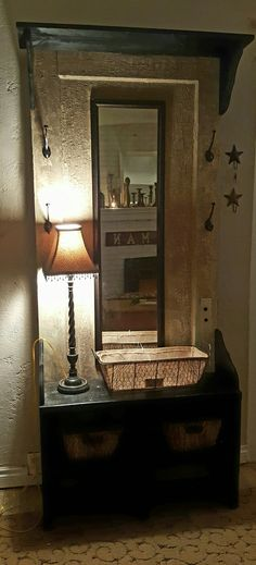 Vintage Door Hall Tree