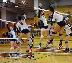 Volleyball Positions Outside Hitter: Left side hitters need physical endurance, mental strength and confidence to score against a 1 or two-person block during a match. (Al Case) Volleyball Hitter, Libero Volleyball, Volleyball Practice, Volleyball Training, Volleyball Outfits, Volleyball Drills, Volleyball Players, Volleyball Positions, Thing 1