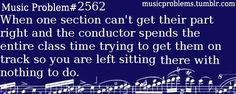 """I don't see Eb major!"" -An idiot trumpet who is too stupid to figure out what concert keys are.<<< ok so I do choir (hey it's all music) and this happens EVERY SINGLE DAY Choir Memes, Marching Band Memes, Flute Problems, Band Problems, Band Nerd, Music Jokes, Music Humor, Band Jokes, Love Band"