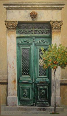 Γκαλτέμης Χριστόδουλος Tardis Door, Door Detail, Entry Way Design, Vintage Doors, Unique Doors, Color Themes, Windows And Doors, Architecture, Shutters