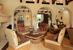 Spanish Colonial - traditional - living room - phoenix - Wendy Black Rodgers Interiors
