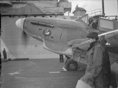 A Fairey Fulmar warming up on the flight deck of HMS VICTORIOUS. Note the Donald Duck painted on the nose of the plane. Ww2 Aircraft, Military Aircraft, Air Fighter, Fighter Jets, Royal Navy Aircraft Carriers, Royal Marines, Flight Deck, Royal Air Force, World War Two