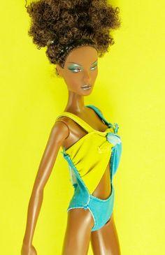 Barbie Yellow N Blue Swimsuit