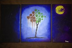 """Original abstract painting """"Death to Life"""" - abstract tree painting"""