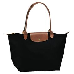 cdb7f6a2f9e3 Amazon.com  NEW Longchamp Le Pliage Tote Bag Black 1899 Black  Beauty  Longchamp