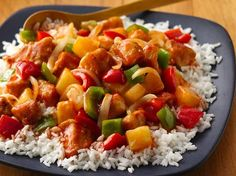 Sweet and sour chicken one-pot.