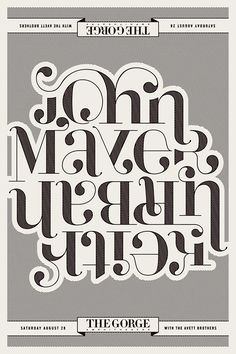 John Mayer & Keith Urban Co-Headlining Show @ The Gorge by Neph Trejo, via Behance