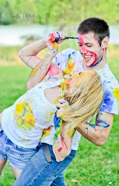 Paint fight engagement shoot