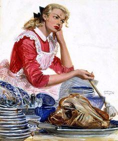 Vintage imagens para a criatividade.  Donas de casa (19) (350x419, 166KB)