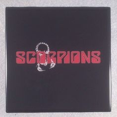 SCORPIONS Ceramic Tile Coaster Art