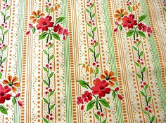 1920's Watercolor wallpaper with red and orange by LemonWoods, €14.99