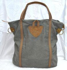 Schulter Canvas Tasche mit Leder B5