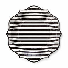 Stripe Black Paper Party Straws - $3.75 per 25 pack | For Jen | Pinterest | Paper straws Birthday party ideas and Diy supplies  sc 1 st  Pinterest : black and white striped paper plates - Pezcame.Com