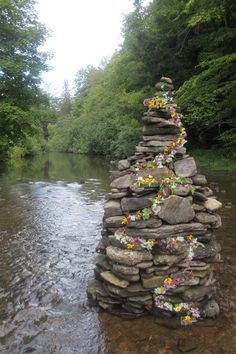 River Rock Sculpture by Maureen Cracknell