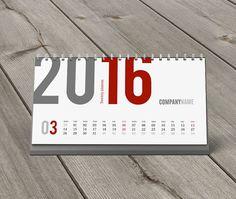 Desk Calendar 2016 Template KB20-W3 by CalendarsTemplates on Etsy