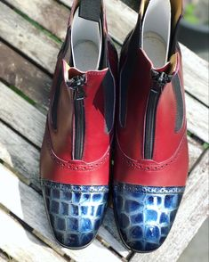 Oxblood, Short Boots, Royal Blue, Model, Collection, Low Boots, Scale Model, Models