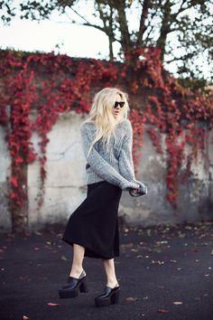 Warm grey with black.