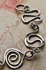 Swirls and Whirls by Pepper Mentz  - one of 5 free wire jewelry projects