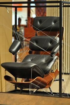 Exploded view of Eames chair