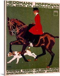 Herrmann Hoffmann,Vintage Poster, by Ludwif Hohlwein