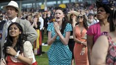 Racegoers during the final race on day two of the 2012 Royal Ascot meeting