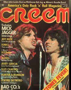 item details: Entire Issuekeywords: Mick Jagger,Elton John, Wishbone Ash Jag, Allman, Jeff Beck, Kinks, Kiss, Quartro, Lynyrd SkywardCreem (which is always capitalized in print as CREEM despite the ma