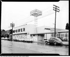 Power Supermarket, Toronto, c. 1955. #vintage #Canada #grocery_store #1950s