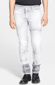 Dsquared2 'Cool Guy' Slim Fit Jeans (Grey) available at #Nordstrom