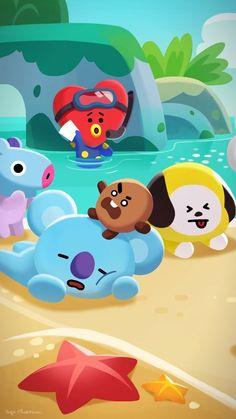 48 Best ideas for cookies animation Bts Chibi, Bts Wallpaper, Iphone Wallpaper, Bts Qoutes, Bts Backgrounds, Line Friends, Bts Drawings, Bts Fans, I Love Bts