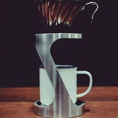 For more coffee inspirations from Japan visit www. Coffee Pour Over Stand, Coffee Stands, Brew Stand, Coffee Brewers, Coffee Holder, Coffee Dripper, Copper Kitchen, Coffee Machine, Drip Coffee