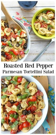 Roasted Red Pepper and Parmesan Tortellini Salad #sharememories
