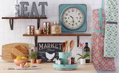 Our kitchen accessories create useful cooking spaces with clever kitchen storage and kitchen organization like storage canisters and stacking bowls. >> #WorldMarket Kitchen