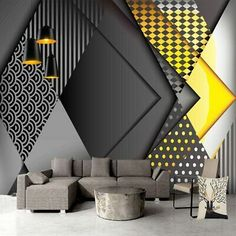 Cheap papel de parede Buy Directly from China Suppliers:Custom Photo Wallpaper Personality Geometry Pattern Living Room TV Background Wall Decoration Mural Modern Papel De Parede Wall Painting Living Room, 3d Wallpaper Living Room, Living Room Paint, Living Room Bedroom, Living Room Decor, Bedroom Decor, 3d Wall Painting, Wallpaper For House, Kitchen Wallpaper