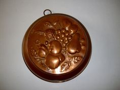 Vintage Mold Copper Tin Lined Fruit Design by NanNasThings on Etsy