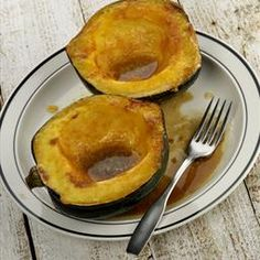 """Baked Acorn Squash with Brown Sugar on BigOven: Delicious.. The standard recipe for, """"country style,"""" baked winter squash"""
