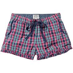 Fat Face Mini Check Shorts, Multi (£20) ❤ liked on Polyvore